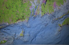 Approaches to Block Island Bathymetry Map